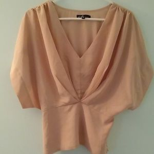 Blush Pink Dolman Sleeve Blouse